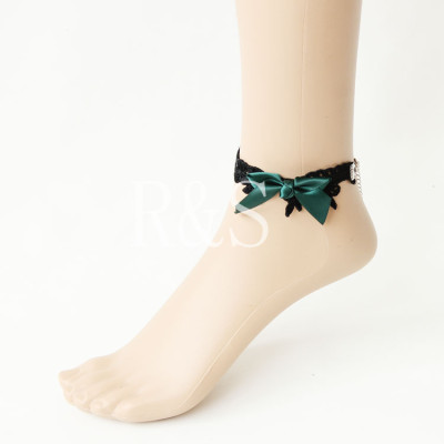 Green Bow Vintage Lace Anklet From Wholesale