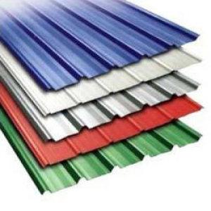 Láminas de acero galvanizado para techos en colores