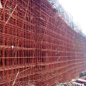 Steel Frame Scaffolding on Site