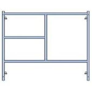 Steel main h-frames scaffolding