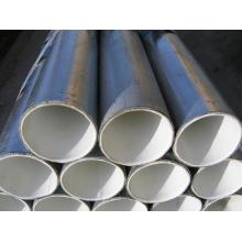 Tubo de acero de plástico línea para agua proveedor