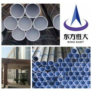 ERW tubo de acero galvanizado con plastico fabricantes