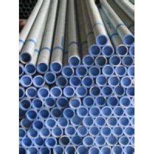 Tubo  acero con largo diametro interior plastico