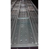 Galvanized metal plank