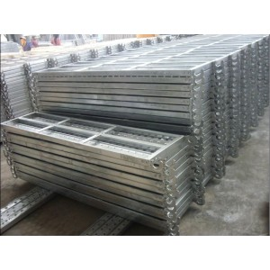 Galvanized Scaffolding Steel Plank For ConstructWith Hook Galv. Metal Plank