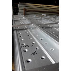Acero de andamiaje galvanizado para construcciones con gancho galcanizado con plancha metálica
