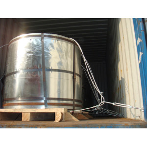 Ofrecer hojalata hoja espiral de metal lata de chapa de acero