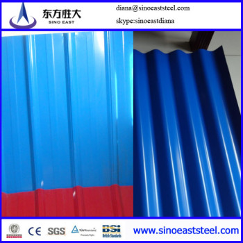 color contour corrugated steel roofing sheet