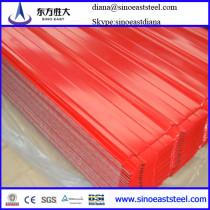 color contour steel roofing sheet