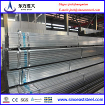 Galvanized rectangular steel pipe for construction