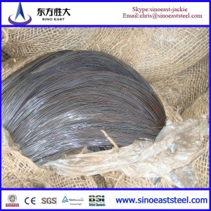 Cold drawn steel wire of high carbon spring steel