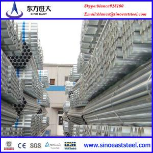 tubo  redondo estructural galvanizado con 275g zinc recubrimiento