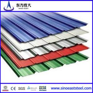 Lámina corrugada de acero para techos