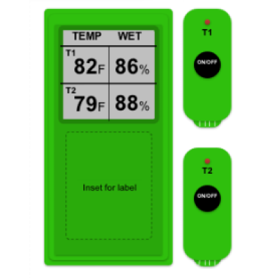 Wireless Dual Thermometer and Hygrometer (HR648)