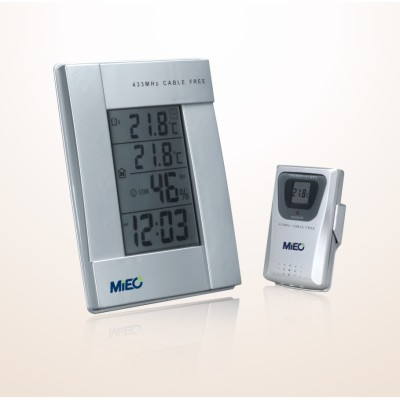 Wireless Thermometer with Dual Alarm Clock (HR643)