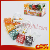 Dice candy lollipop