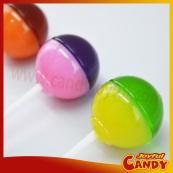 Dual color dual taste lollipop