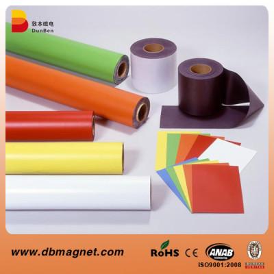 Flexible rubber magnet with Color PVC