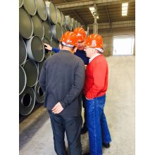 Russian customers visited NGO calcium carbide plant