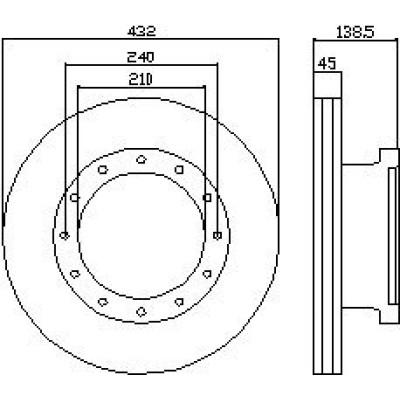 IVECO Brake Disc 2996327
