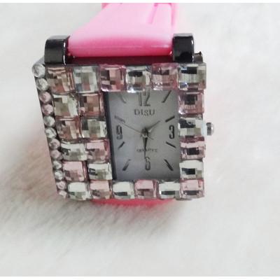 Pink Fahion Watch With Jewel