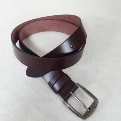 Fashion Dark Brown Leather Belt