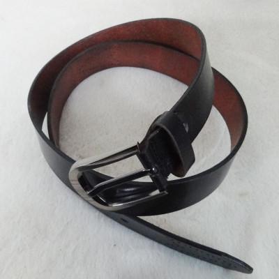 Stylish Black Leather Belt