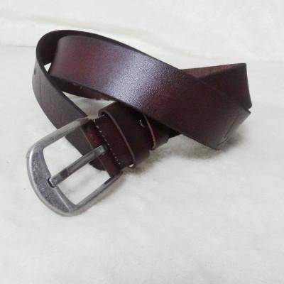 Stylish Dark Brown Leather Belt
