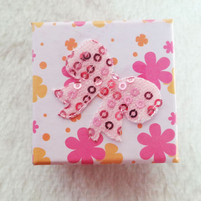Free Shipping Stamp Flower Box With Bow