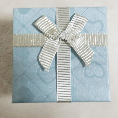 Free Shipping Loving Heart Square Box With Bow
