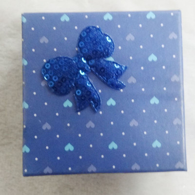 Free Shipping Stamp Loving Heart Box WIith Bow