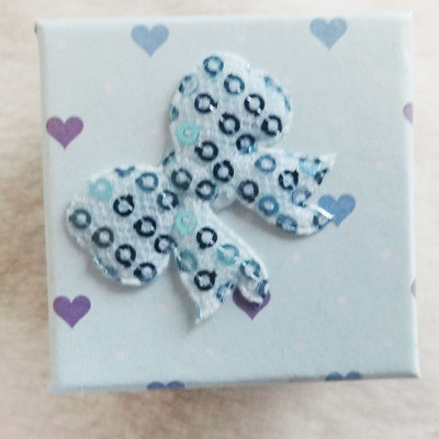 Free Shipping Stamp Loving Heart Square Box With Bow