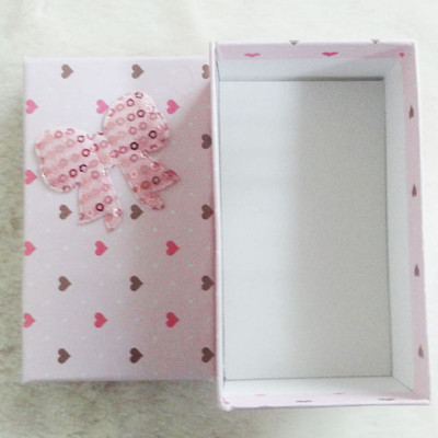Free Shipping Stamp Loving Heart Box With Bow