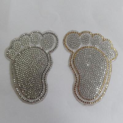Small Feet Design Car Diamond Sticker