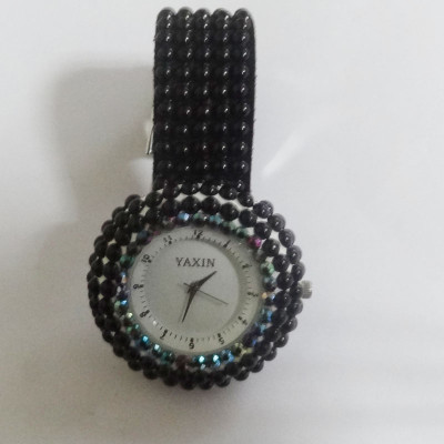 Black Women's Fashion Watch With Beads