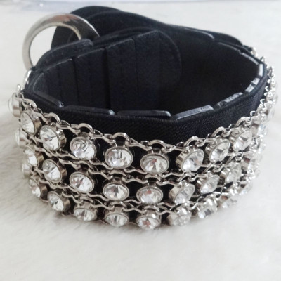Two Colors Fashion Lady's Waistband With Diamond
