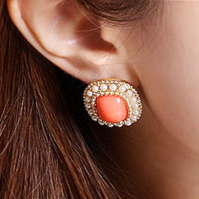 Free Shipping Square Candy Color Earrings