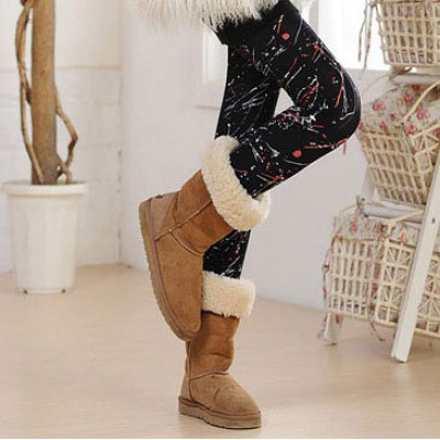 Thickened Leggings With Scrawl Patterns