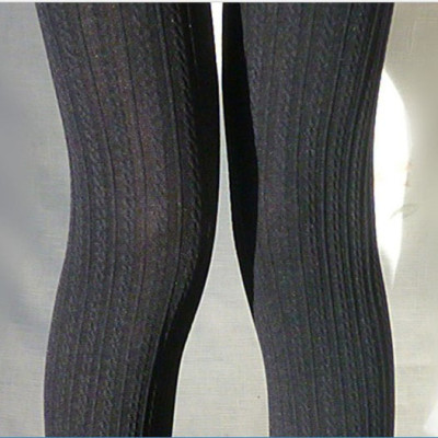120D Opaque Tights With Patterns