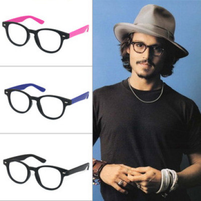 The Same Style From Pirates of the Caribbean Johnny Depp Of Round Glasses And Fashion Spectacle Frames Without Lenses