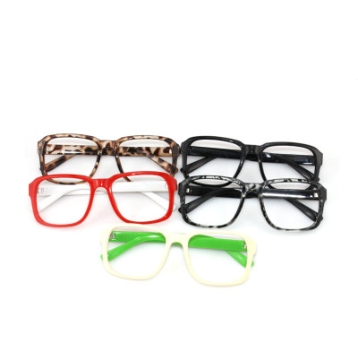 Latest Korean Version With Female Leopard Black Frame Of Non-mainstream Sunglasses