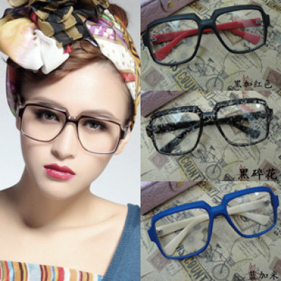 two-color retro eyeglass frames for fashion men and women