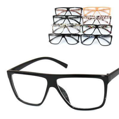 Free Shipping Oversized Box And Trend Retro Imitation Wood Glasses For Fashionable Men And Women