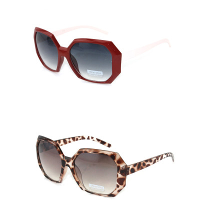 Free Shipping Retro Simple Tide For Female Models' Large Frame Sunglasses