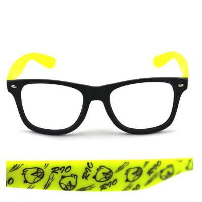Free Shipping Angry Birds Printing On Mirror Legs Glasses Frame For Fashion Sunglasses