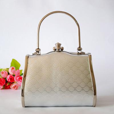 Silver Princess Evening Handbag With Patterns