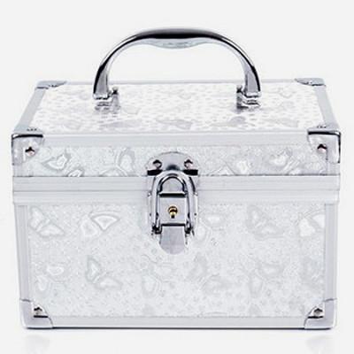 Silver Shiny Makeup Handbag