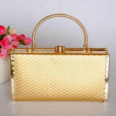 Princess Evening Handbag With  Lozenge Patterns