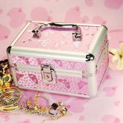 Pink Makeup Bag With Patterns