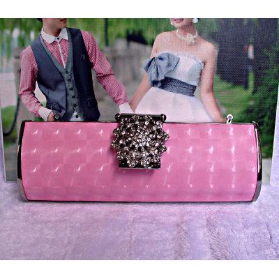 Pink Princess Evening Handbag With Flower
